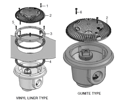 Hayward Skimmer And Main Drain Parts Diagram