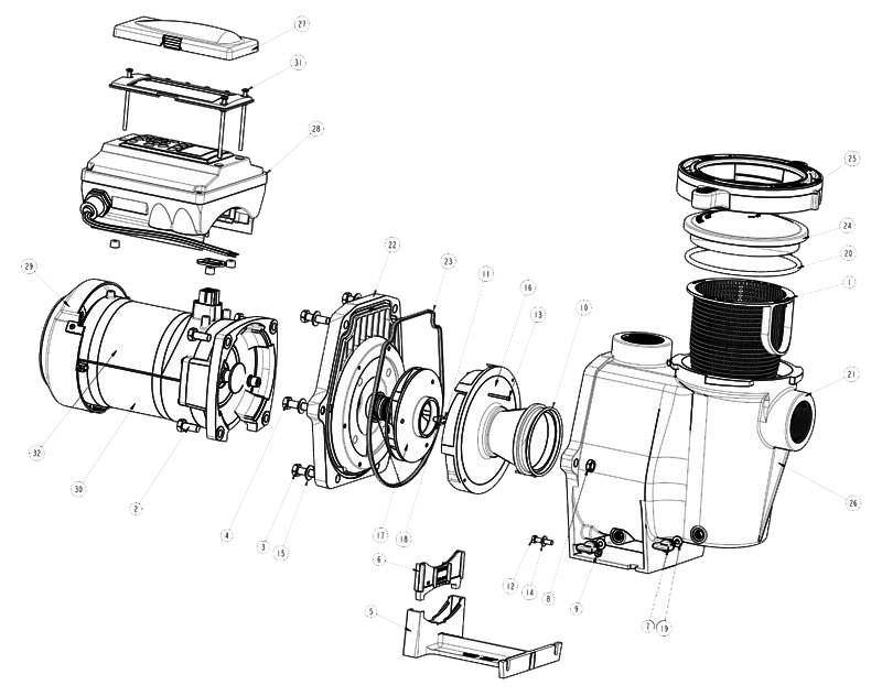Pentair Intelliflo I1 Pump Parts